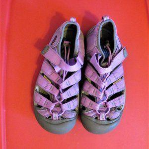 Girls Purple Keen Waterproof Sandals sz 3